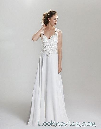 vestido sencillo de falda recta lillian west