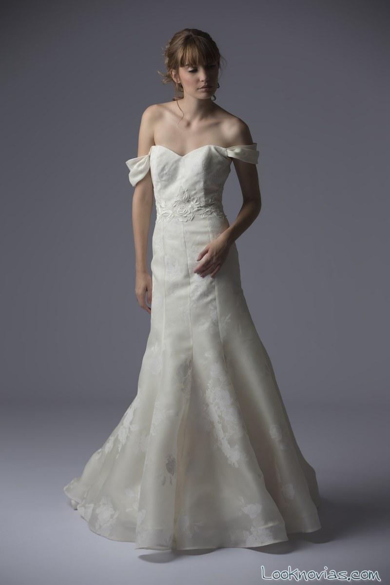 vestido sencillo de novia 2016