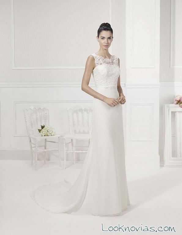 vestido sencillo de novia alma novias