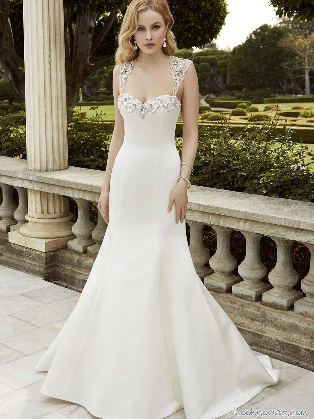 vestido sencillo de novia enzoani