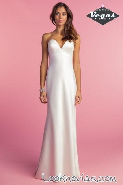 vestido sencillo satinado de alyce bridal