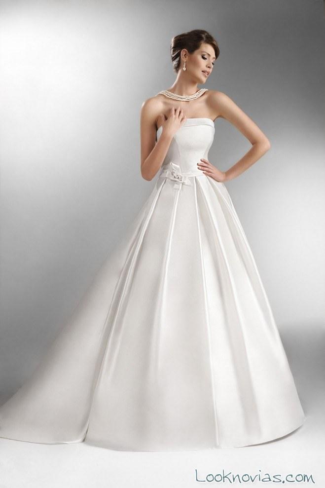 vestido sencillo the one para novias