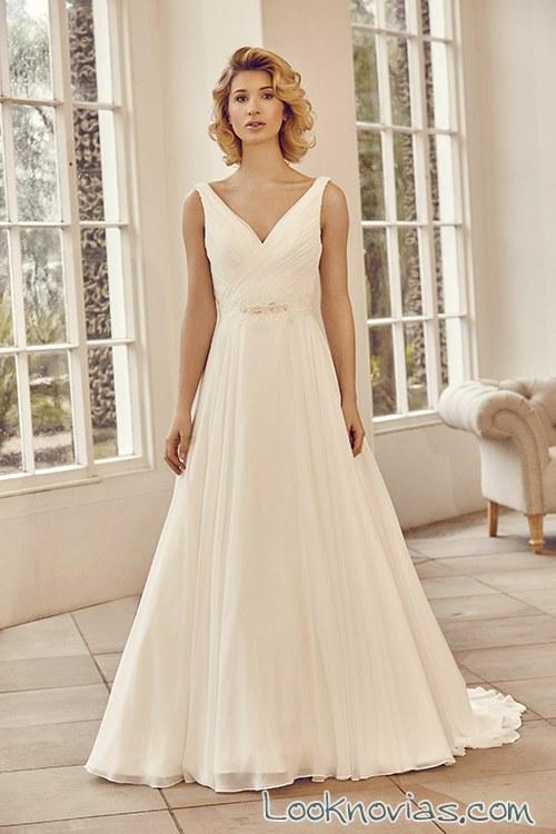 vestido sencillo tirantes novias benjamin