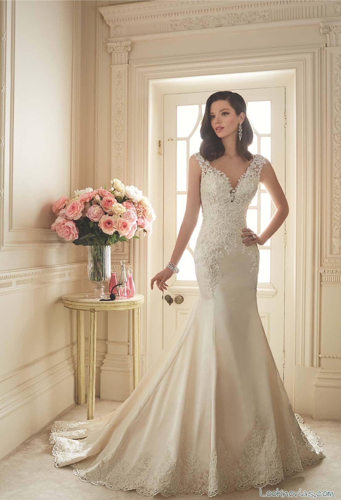 vestido sencillo y romántico de sophia tolli