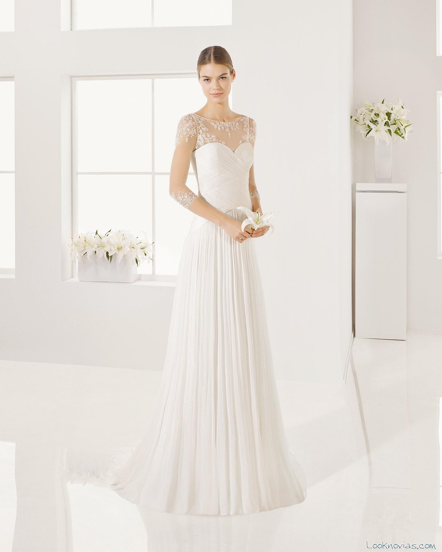 vestido shine novias con mangas
