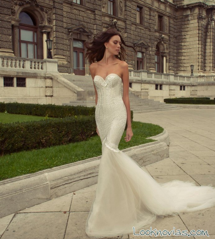 vestido sirena ajustado esther haute couture