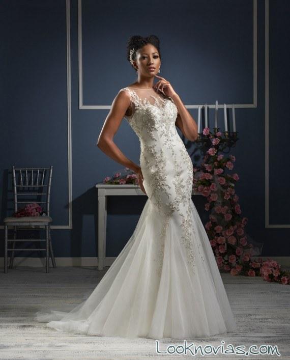 vestido sirena blanco de bonny bridal