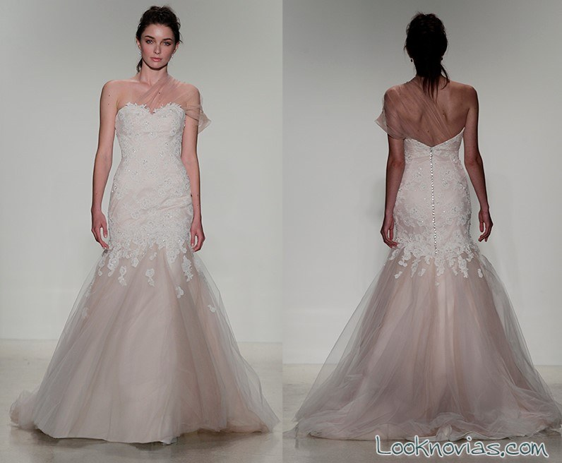 vestido sirena color para novias faetanini