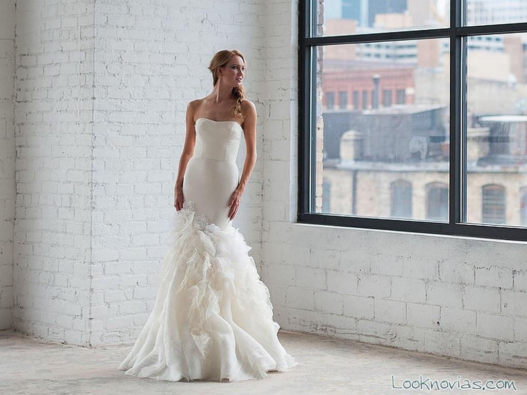 vestido sirena con detalle tara latour