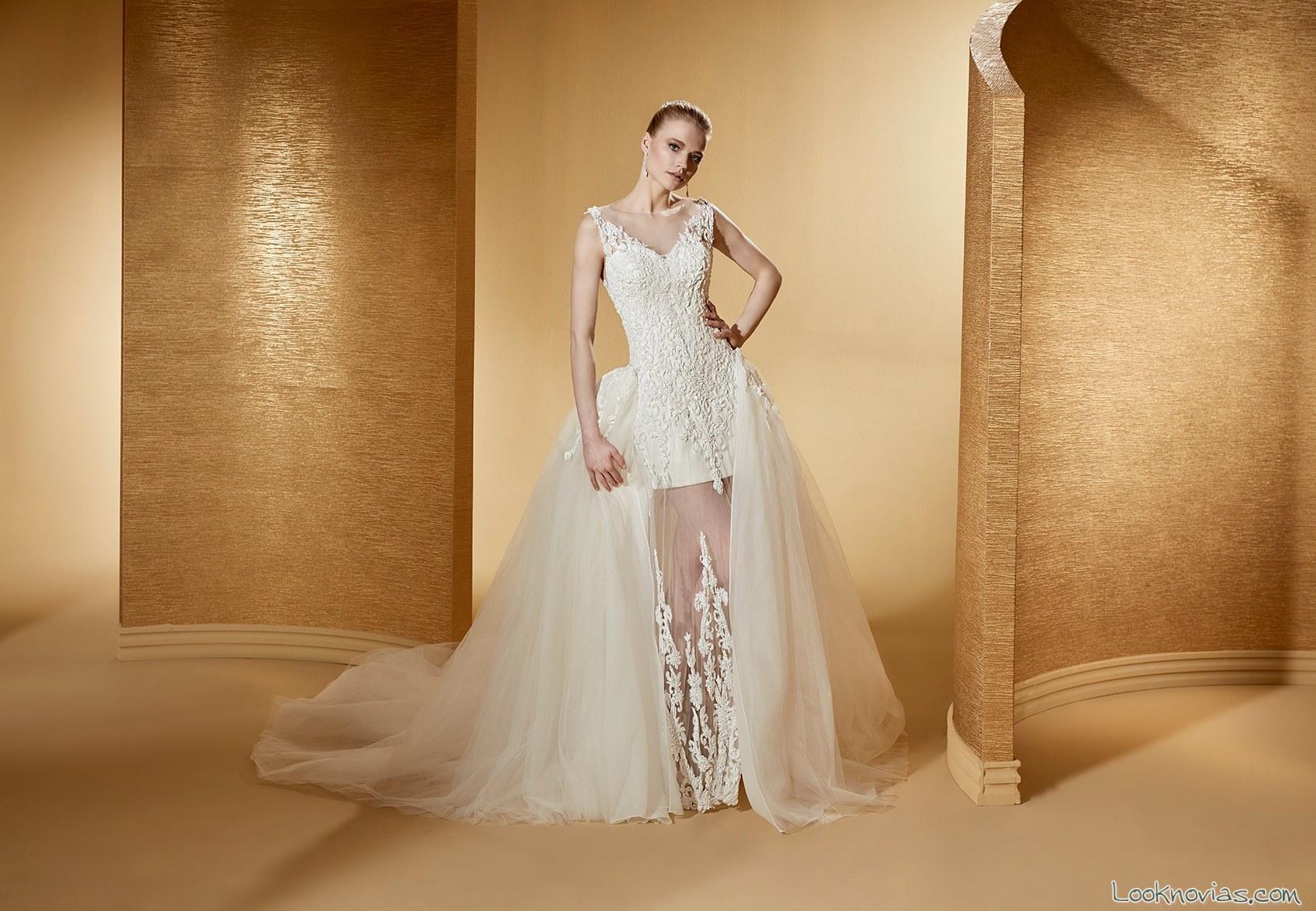 vestido sirena con doble falda nicole sposa