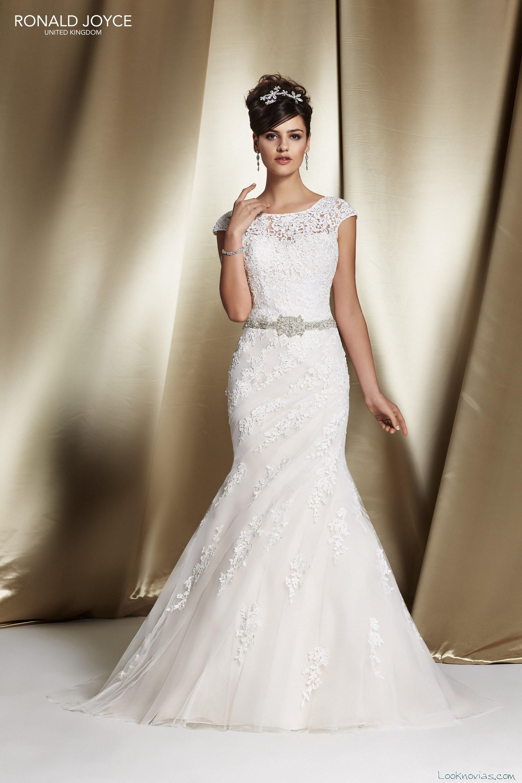 vestido sirena con drapeados y bordados para novias