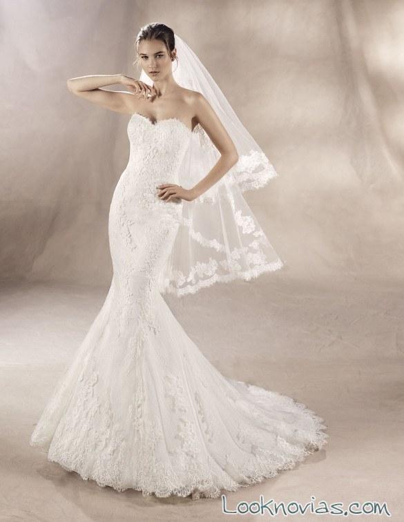 vestido sirena corte corazón white one