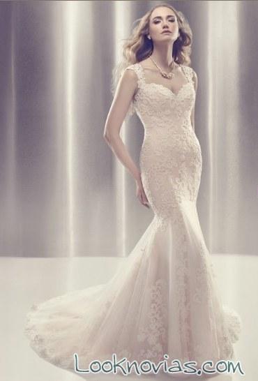 vestido sirena de alta costura 2015