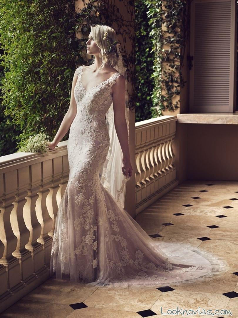 vestido sirena de grandes bordados casablanca