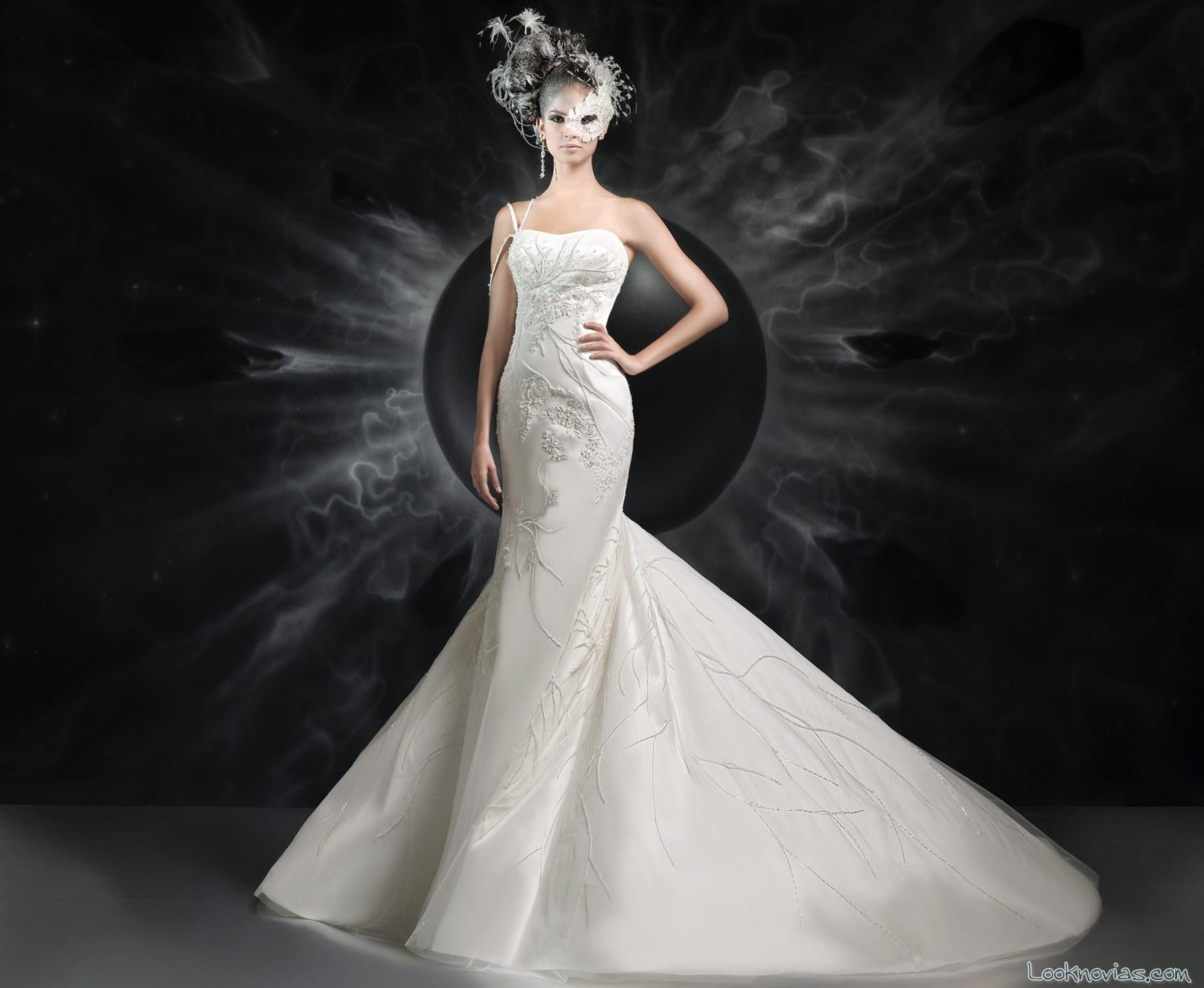 vestido sirena de la colección Jaiis