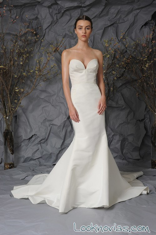 vestido sirena de novia más ajustado Austin Scarlett