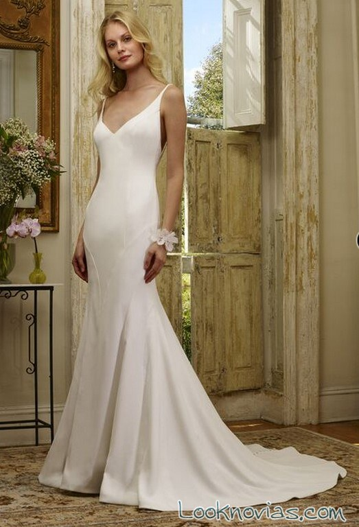 vestido sirena de novia sencilla robert bullock