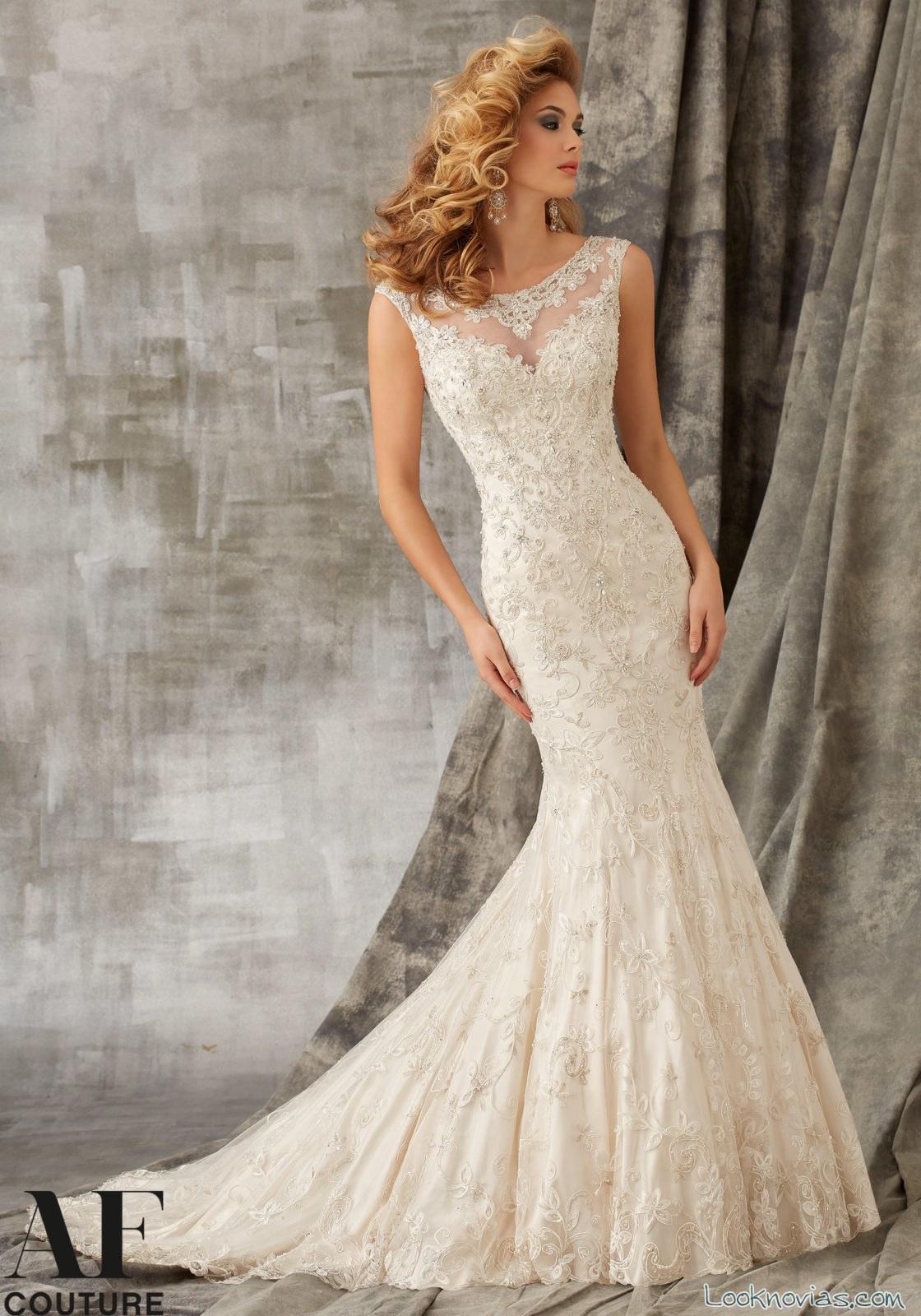vestido sirena elegante novias AF