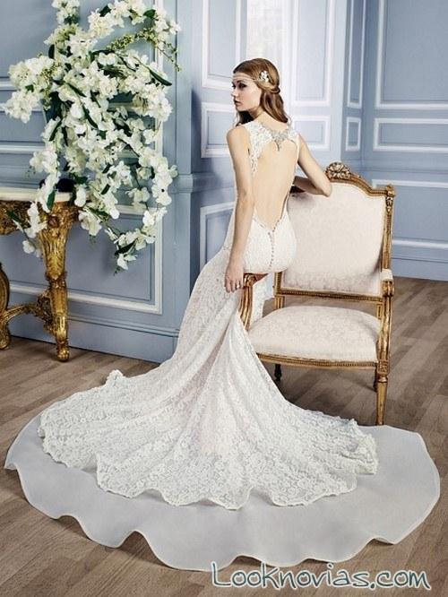 vestido sirena escote en espalda moonlight bridal