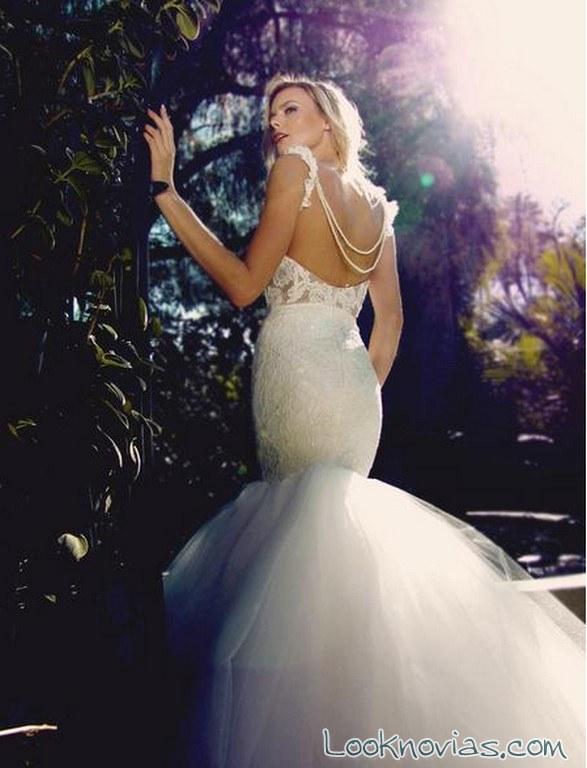 vestido sirena falda tul lauren