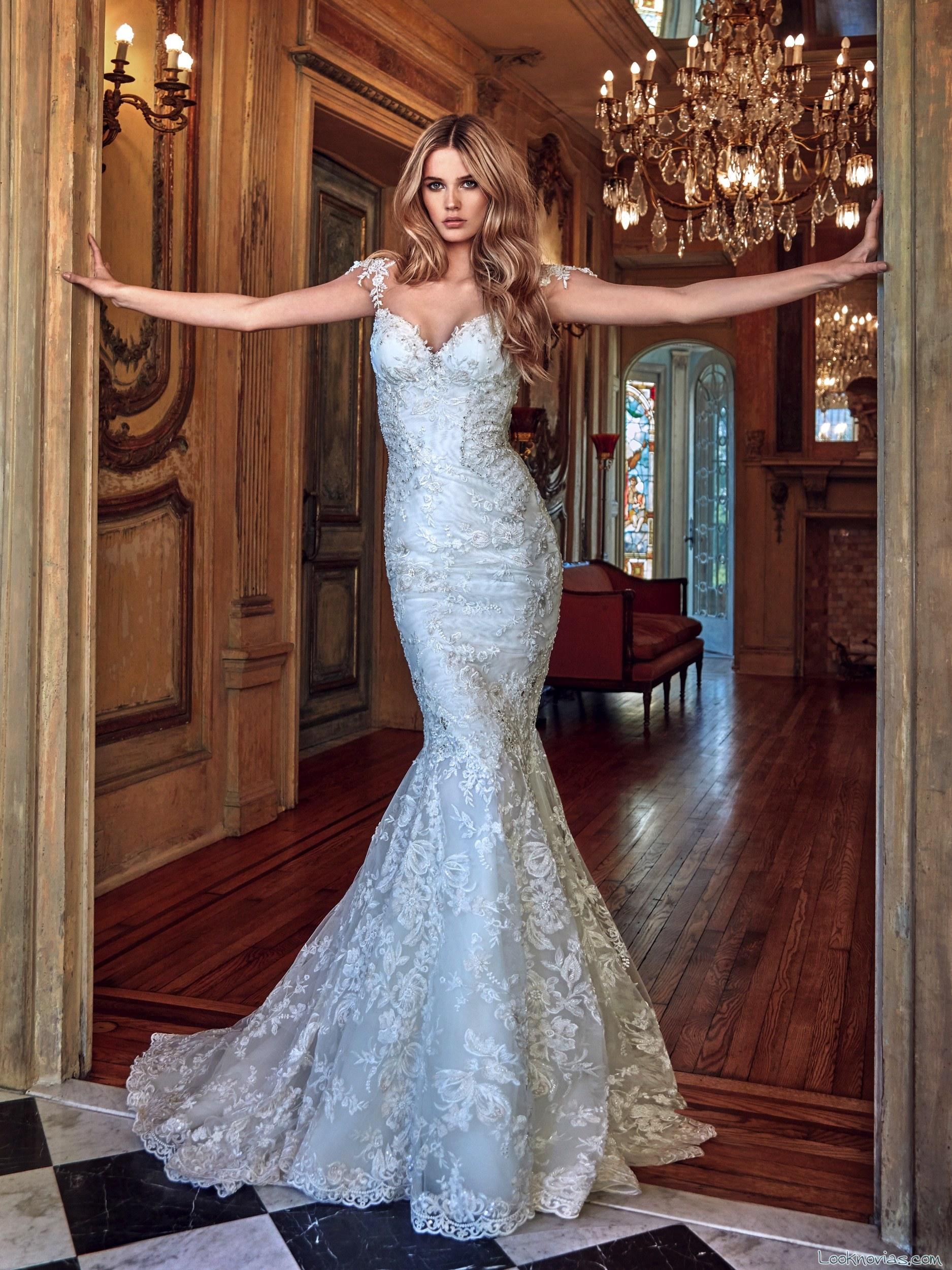 vestido sirena galia lahav bordados