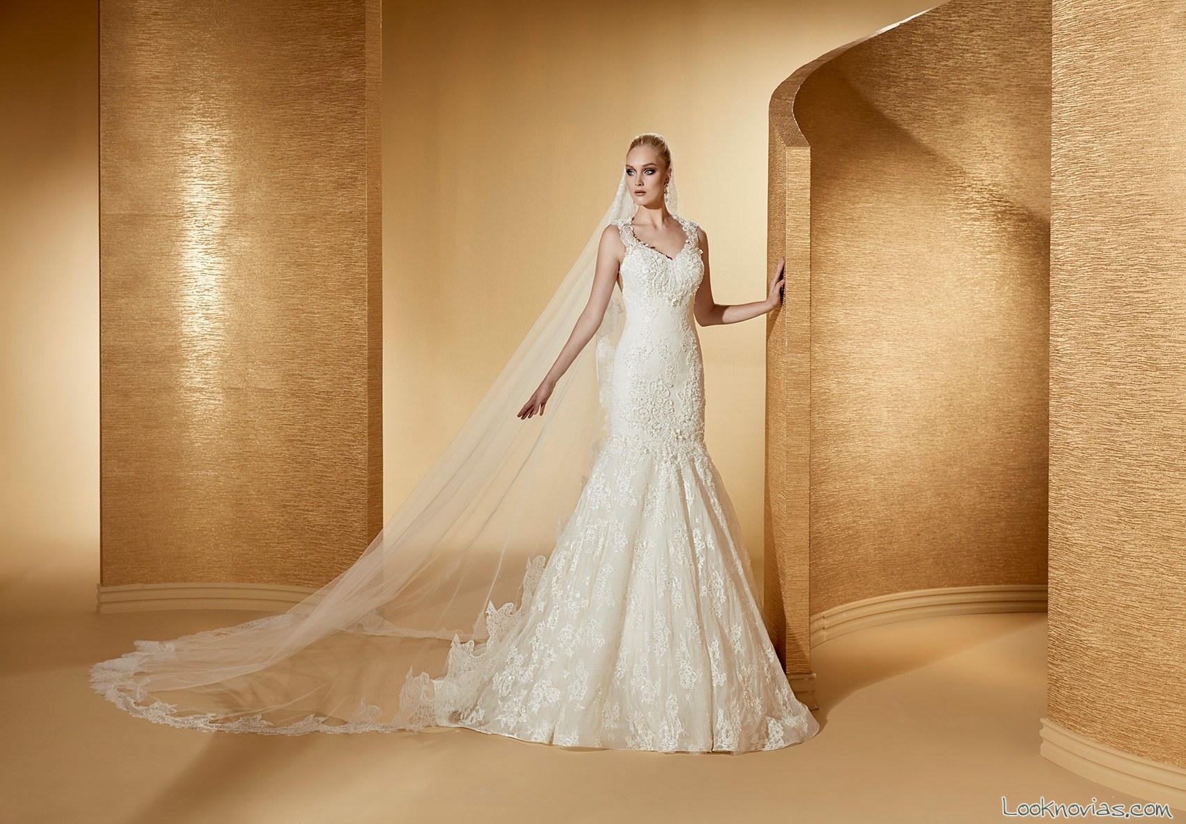 Vestido sirena nicole spose romance color blanco