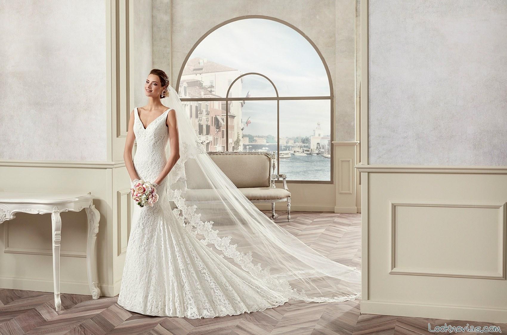 vestido sirena novias colet blanco