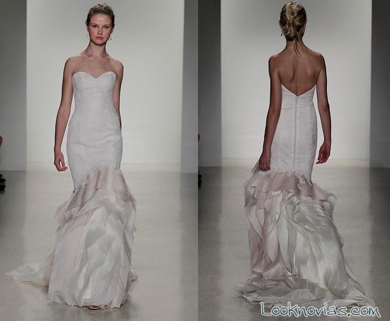 vestido sirena novias doble tejido