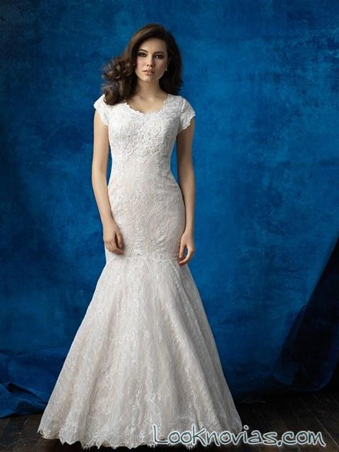 vestido sirena novias encajes