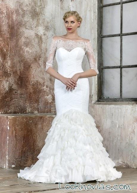 vestido sirena novias maria salas