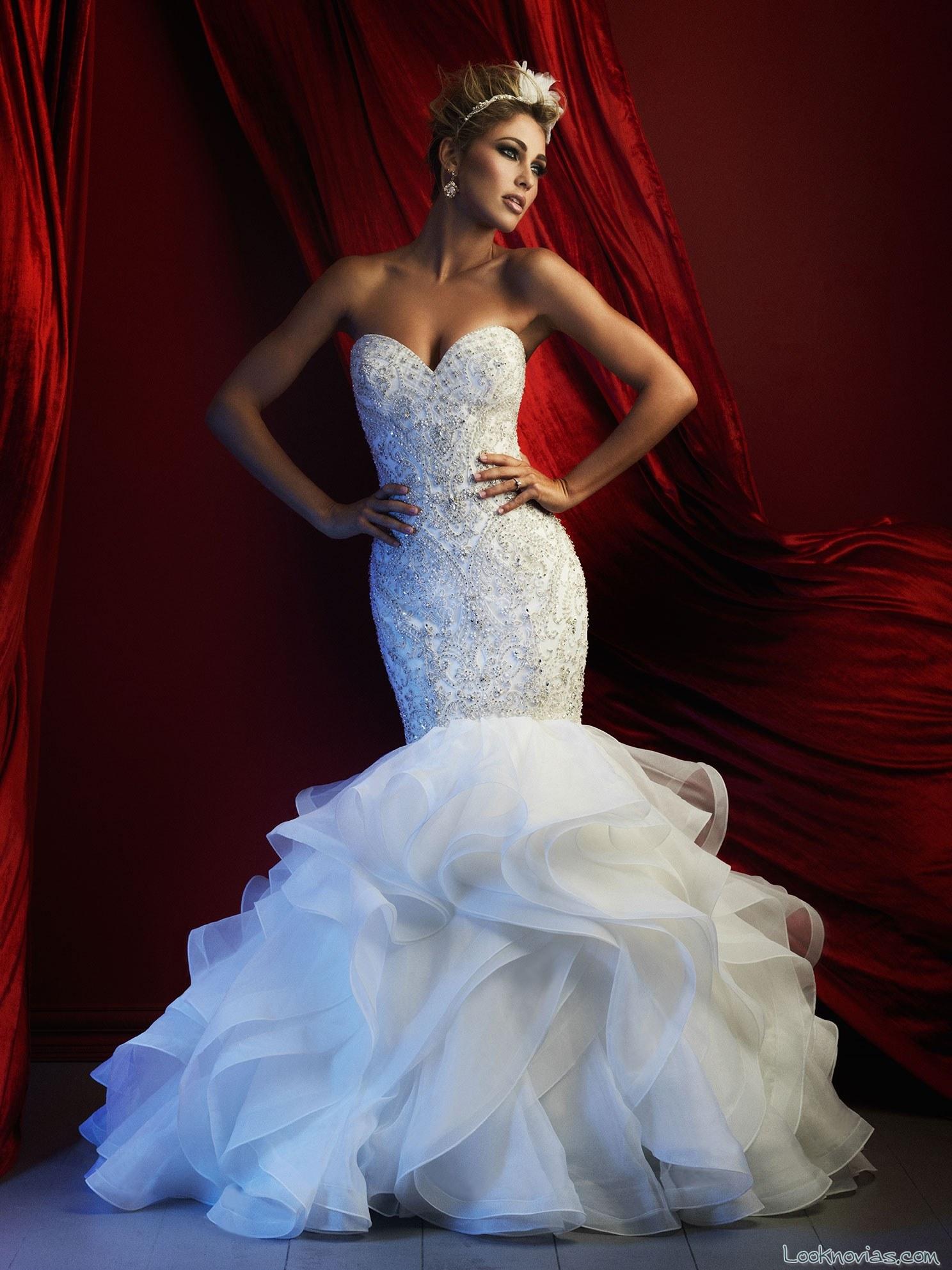 vestido sirena para novias de alta costura