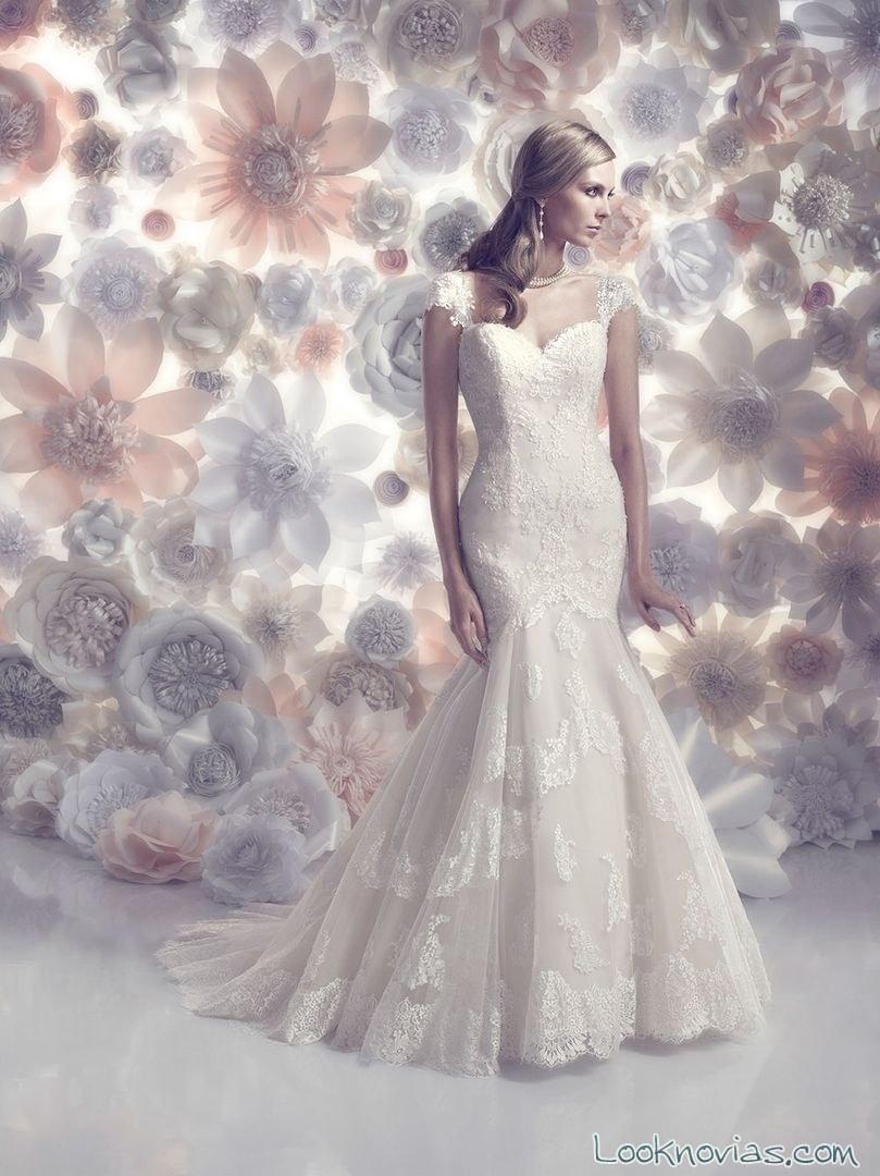 vestido sirena para novias de primavera