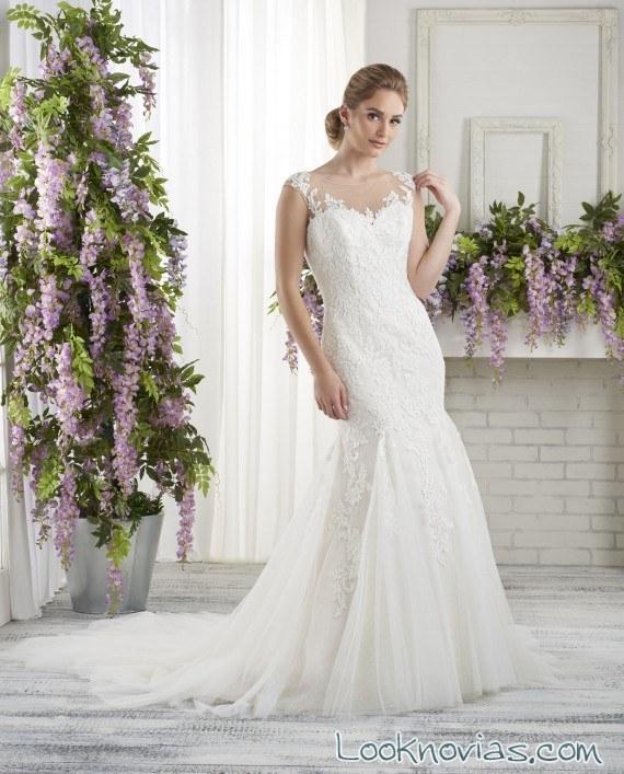 vestido sirena sencillo bonny bridal