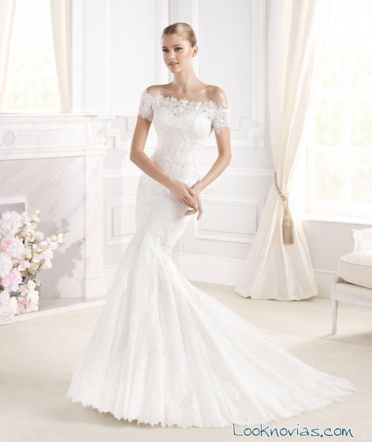 vestido sposa de mangas con encaje