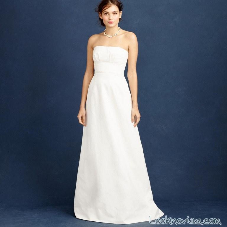 vestido strapless novia low-cost