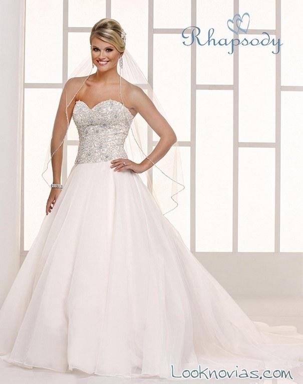 vestido strapless rhapsody bridal