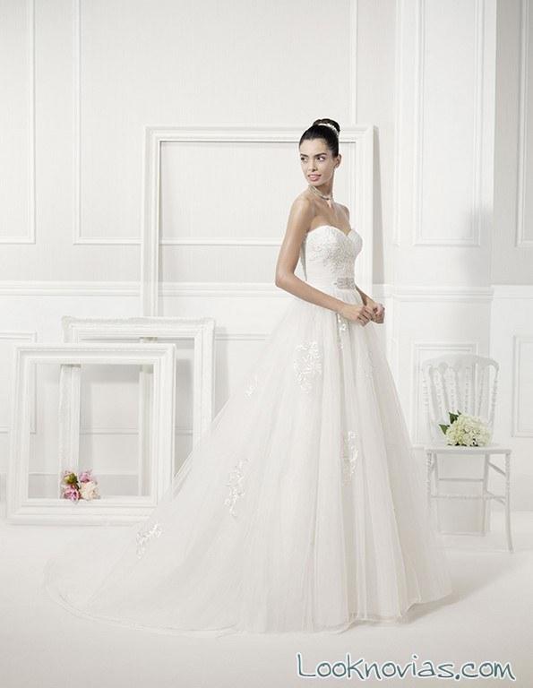vestido sutil de novia paradise alma novias