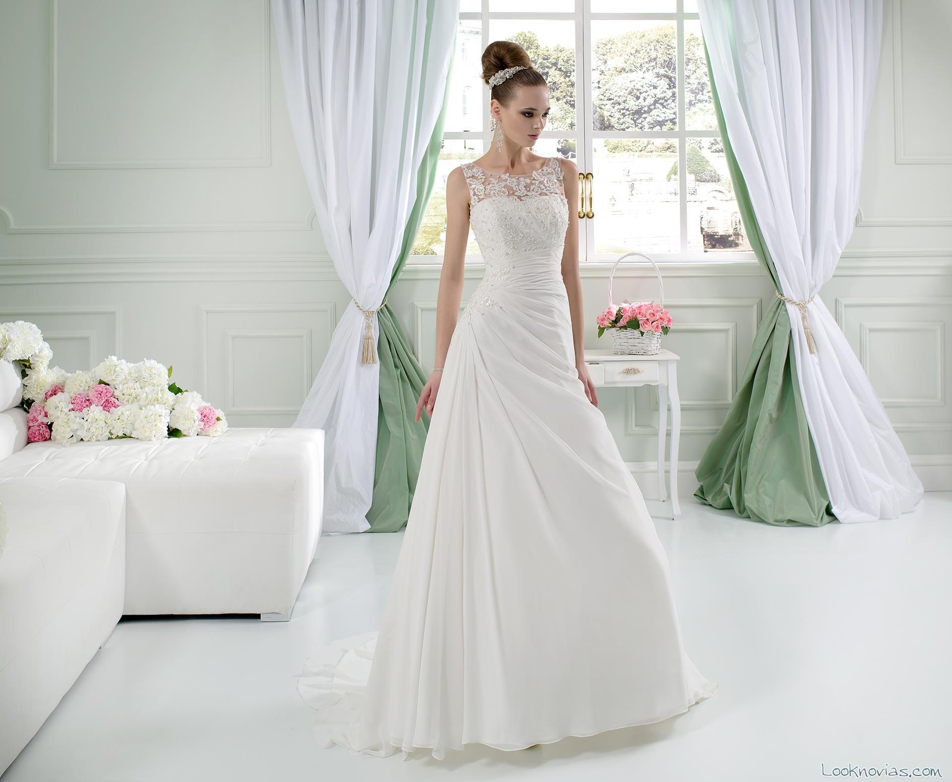 vestido toi spose 2016 con escote fantasía