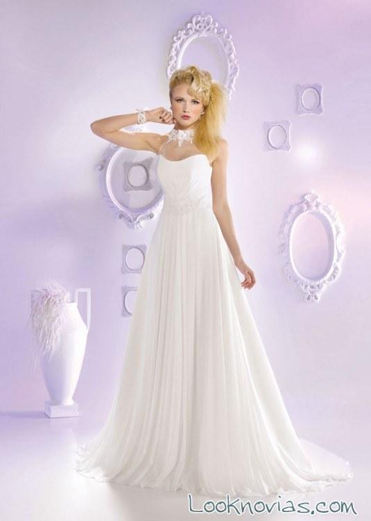 vestido vaporoso blanco just for you