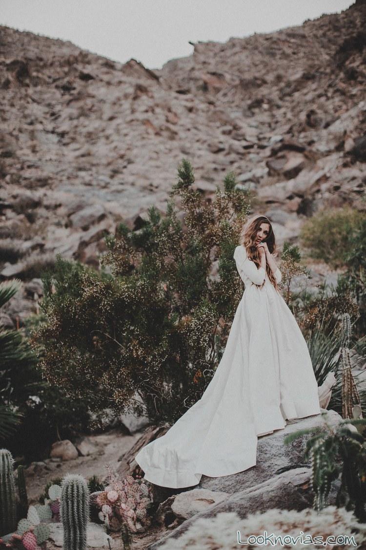 vestido vaporoso boho novias
