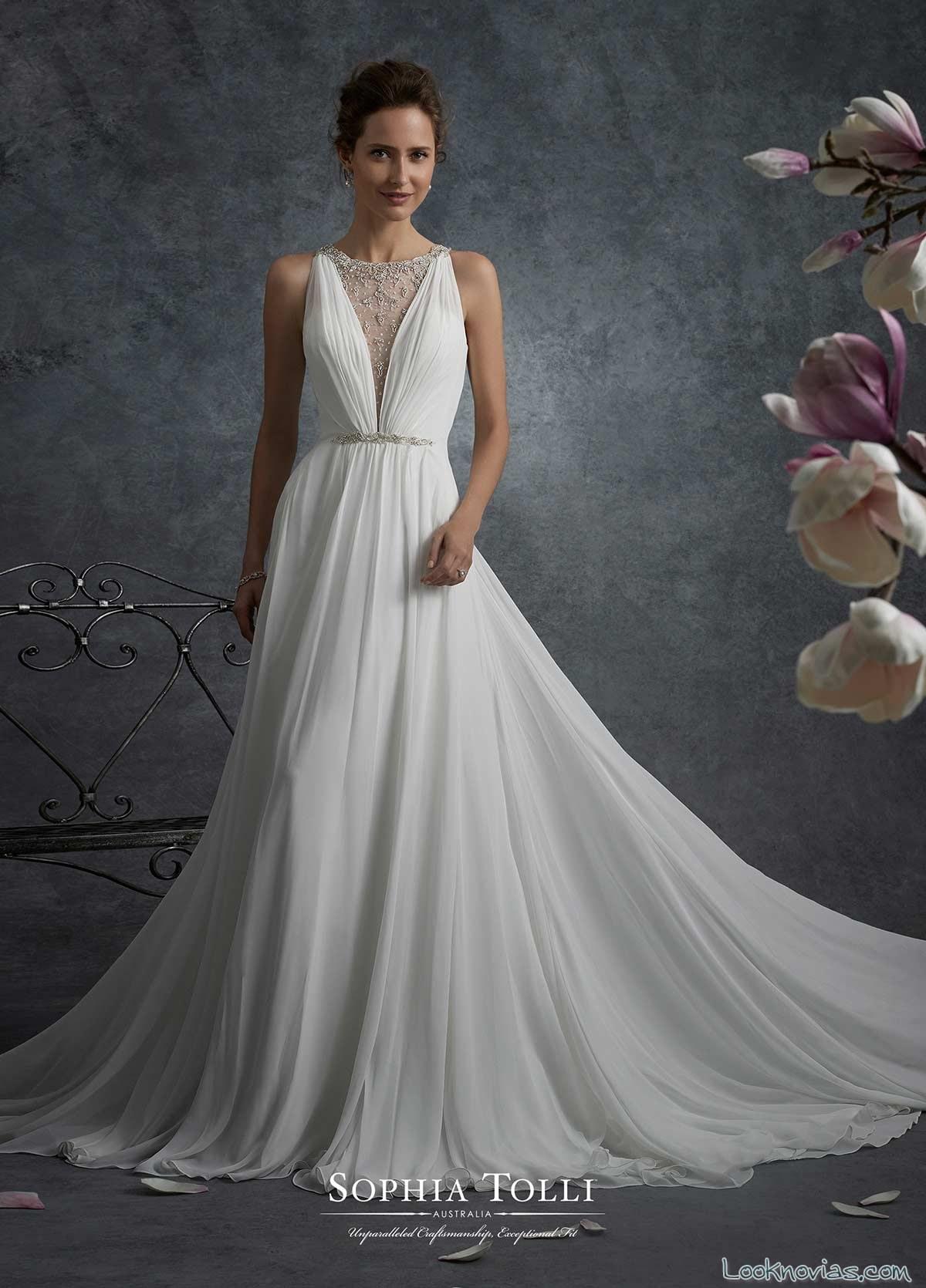 vestido vaporoso tejido suave novias