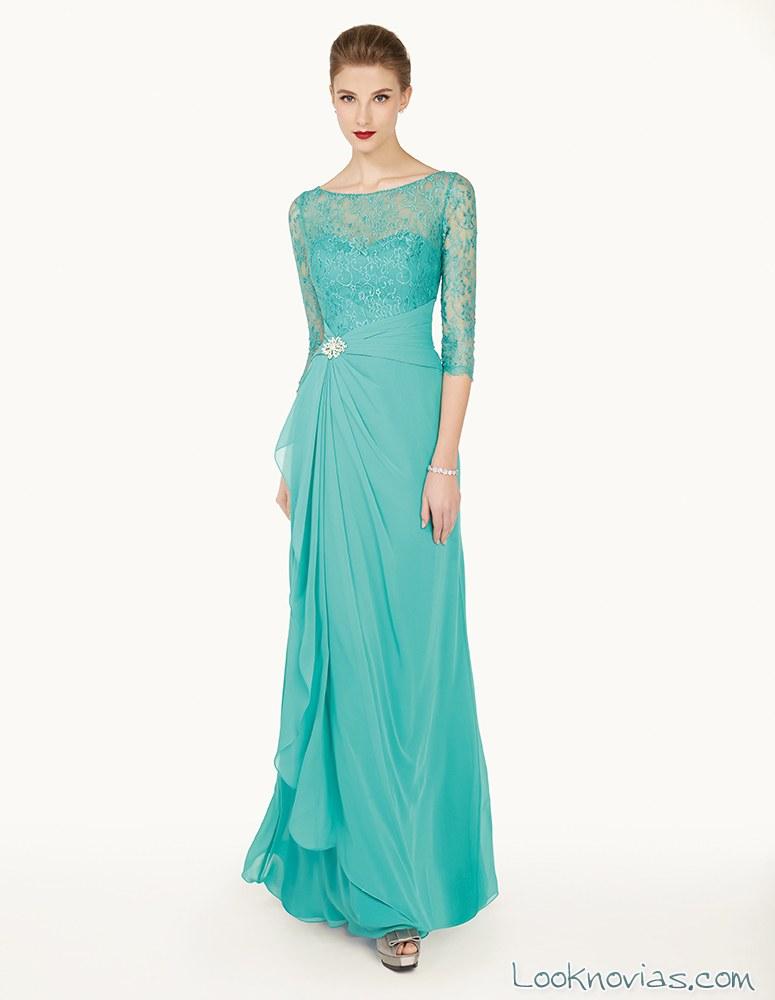 vestido verde de couture club