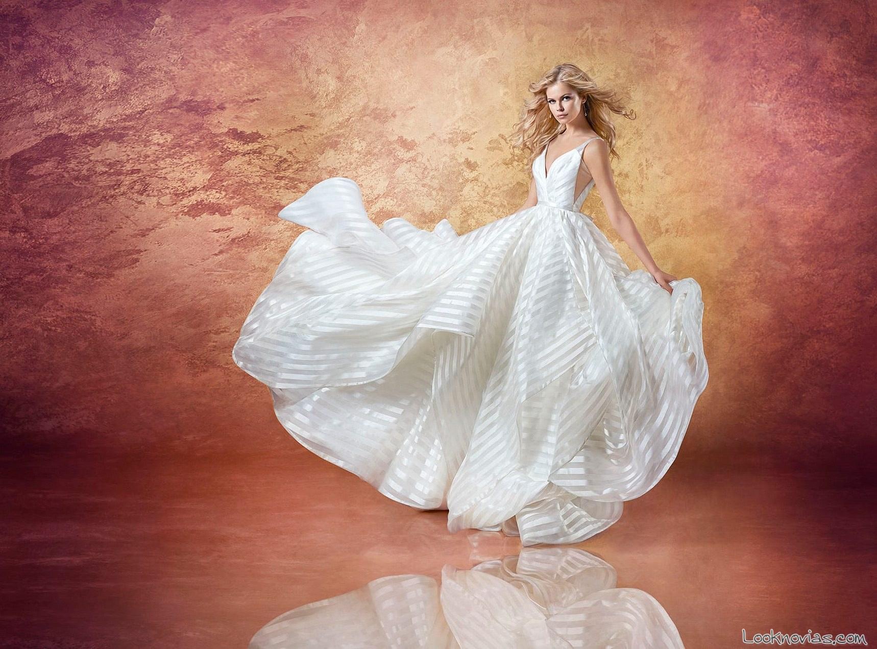 vestido volumen hayley paige novias