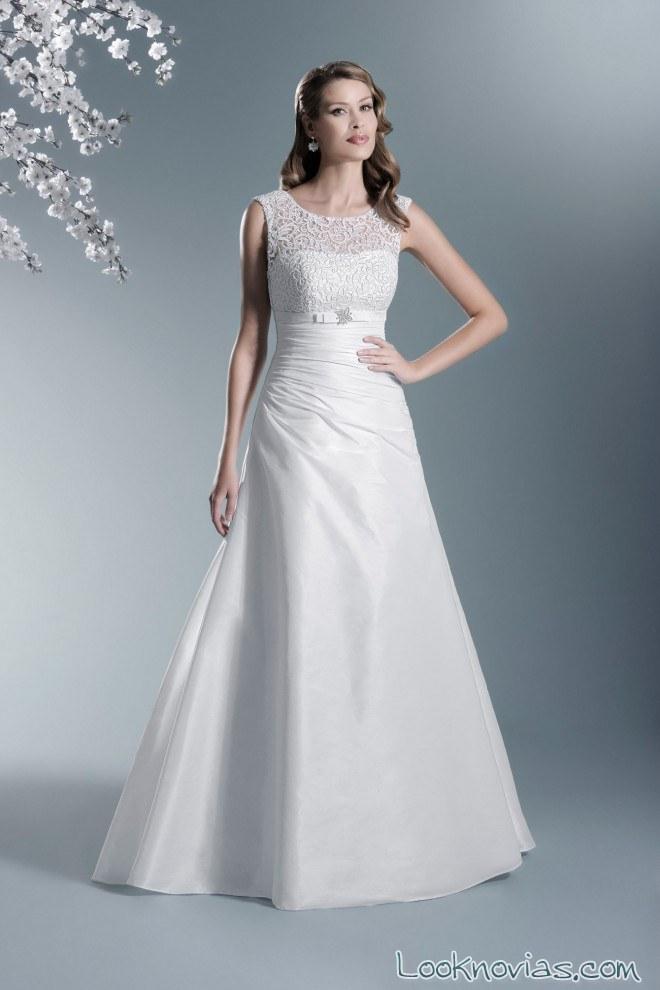 vestido volumen novias modernas en blanco