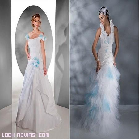 Vestidos de novia azules