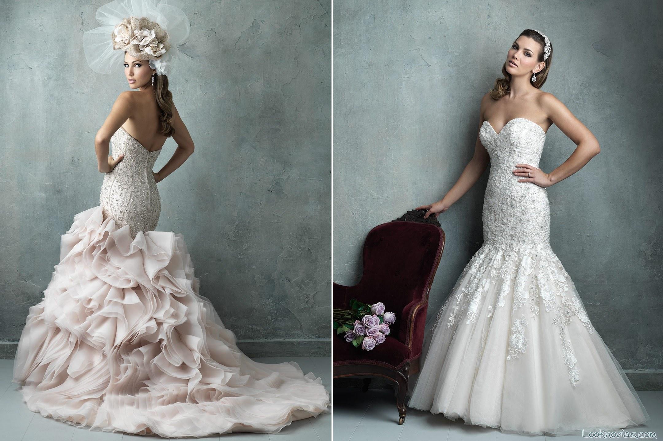vestidos allure corte princesa couture