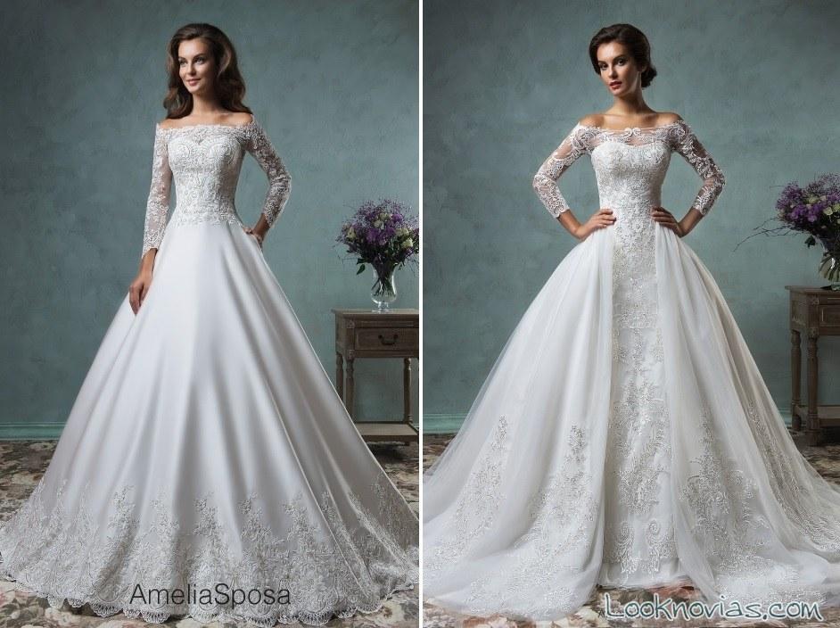 vestidos amelia sposa con mangas 2016