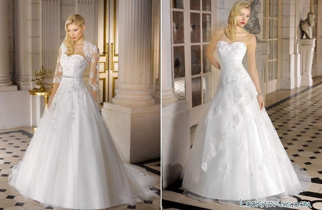 vestidos blancos de novia 2015