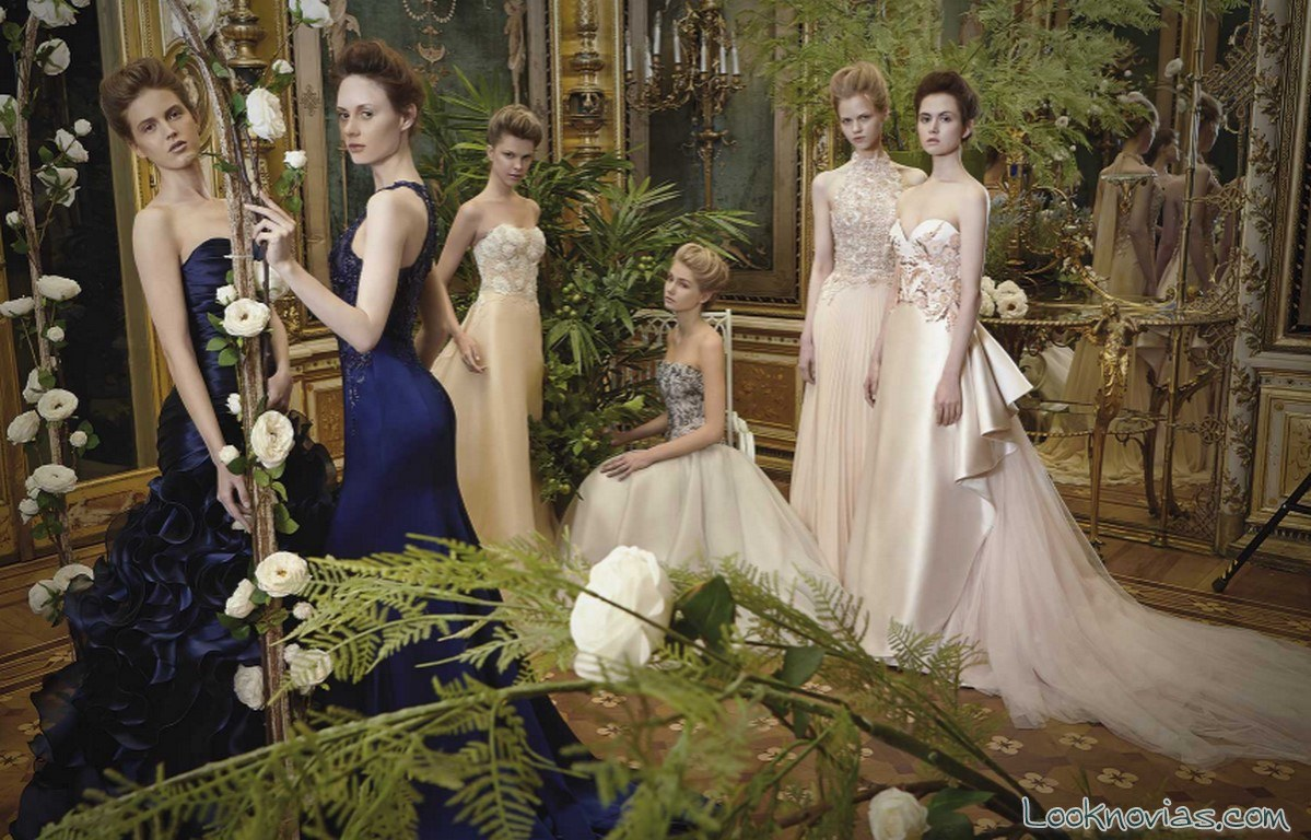 vestidos carlo pignatelli novias en color