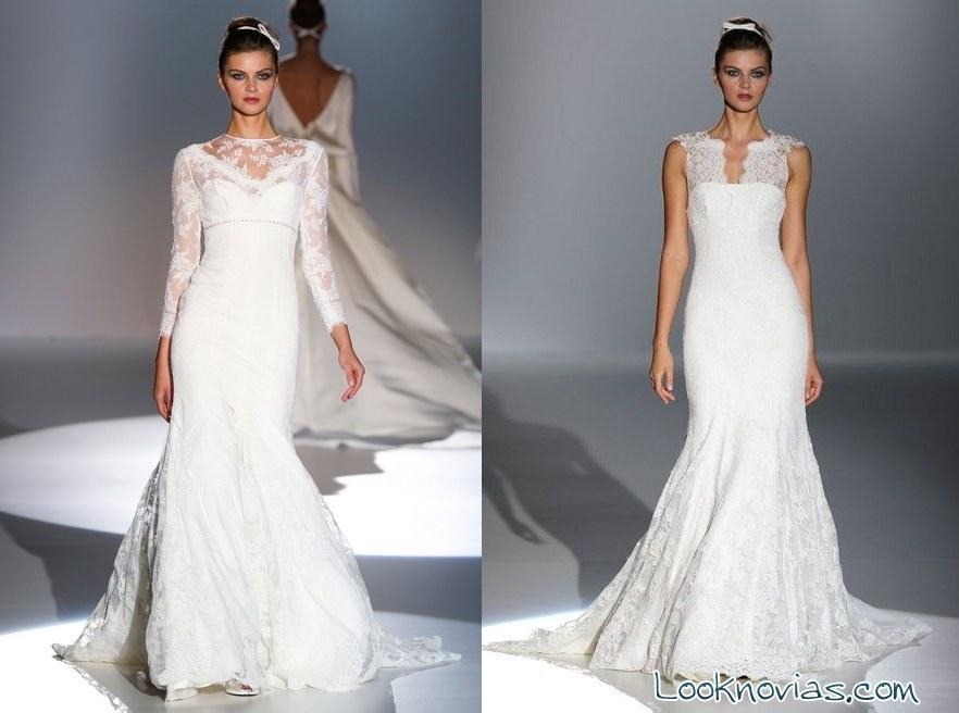 vestidos color marfil para novias